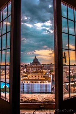 /Vaticano através do castelo d'Angelo