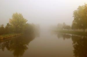 Paisagem Natural/O rio e o nevoeiro