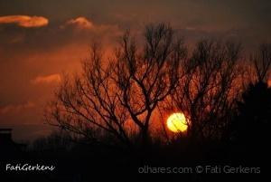 Paisagem Natural/Pôr do sol visto da minha janela!