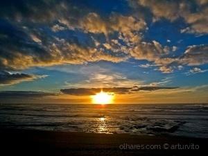/O pôr do sol