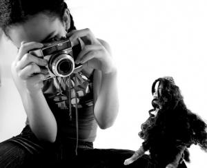Retratos/Modelo fotografa boneca