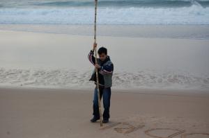 Outros/escrevendo na areia