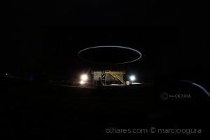 Arquitetura/iluminamento com led e drone