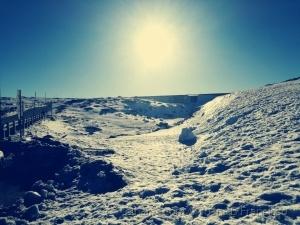 Paisagem Natural/Sol na neve