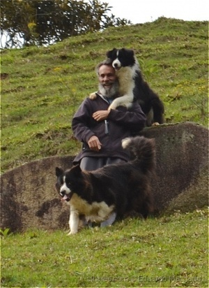 Retratos/Old man and dogs