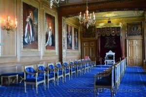 História/Castelo de Windsor - Sala azul