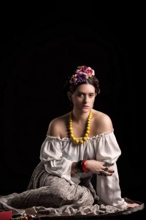 Retratos/Retrato de Sofia inspirado em Frida Kahlo