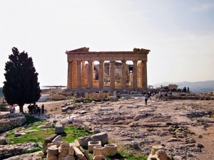 /A view of the Parthenon