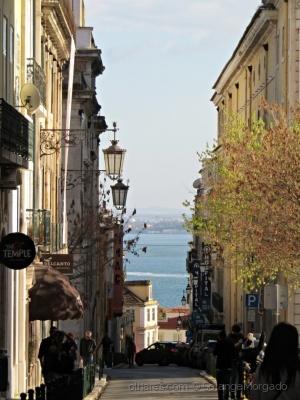 /Sete colinas, o Tejo ao  fundo, Lisboa.