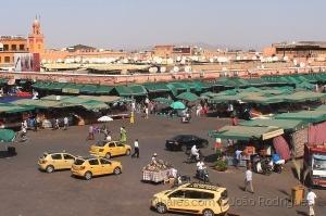 /Jemaa el-Fna, Marrakech, Marrocos.
