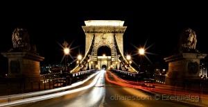 /The night lights of Budapest
