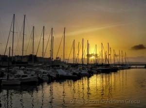 Paisagem Natural/hora do pôr do sol