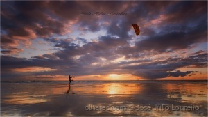 Paisagem Natural/Kite surf sunset