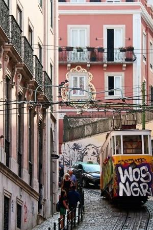 Paisagem Urbana/O Elevador  da Glória ( Lisboa )