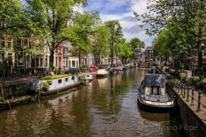 /A luz nos canais de Amesterdão