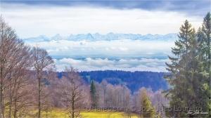 Paisagem Natural/Alpes, lá ao fundo.
