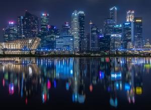 /Singapore's skyline